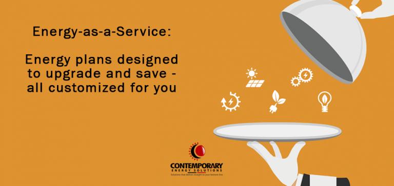 Service platter with energy symbols. Solar, green energy, LED lighting